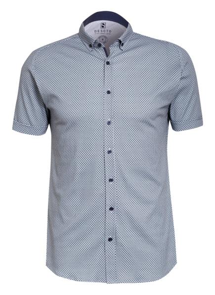 DESOTO Kurzarm-Hemd Slim Fit aus Jersey, Farbe: WEISS/ GRÜN/ DUNKELBLAU (Bild 1)