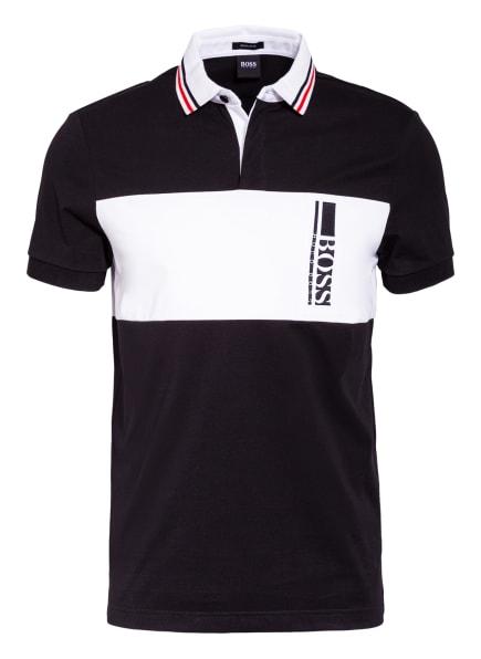 BOSS Jersey-Poloshirt PAVEL Regular Fit, Farbe: SCHWARZ/ WEISS (Bild 1)