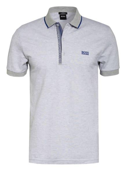 BOSS Piqué-Poloshirt PAULE Slim Fit, Farbe: HELLGRAU/ BLAU (Bild 1)