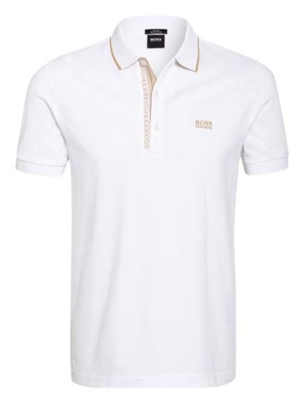 BOSS Piqué-Poloshirt PAULE Slim Fit, Farbe: WEISS (Bild 1)