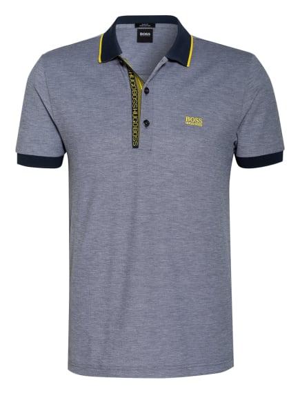 BOSS Piqué-Poloshirt PAULE Slim Fit, Farbe: DUNKELBLAU/ WEISS (Bild 1)