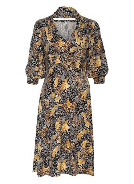 summum woman Jerseykleid mit abnehmbarer Schluppe , Farbe: CREME/ SCHWARZ/ CAMEL (Bild 1)