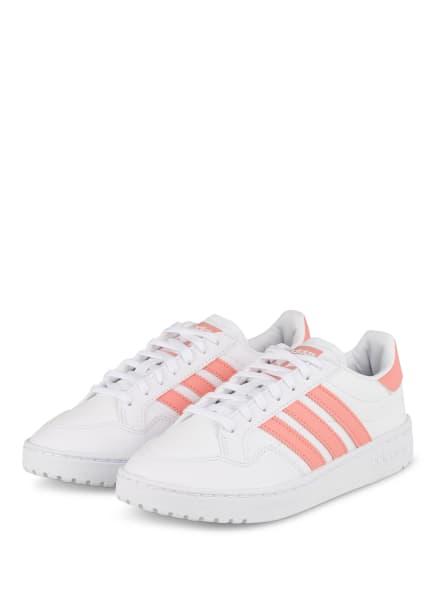 adidas Originals Sneaker TEAM COURT, Farbe: WEISS/ LACHS (Bild 1)