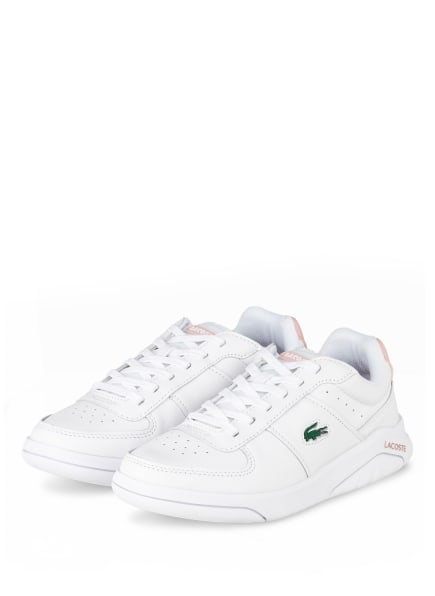 LACOSTE Plateau-Sneaker GAME ADVANCE, Farbe: WEISS/ ROSA (Bild 1)