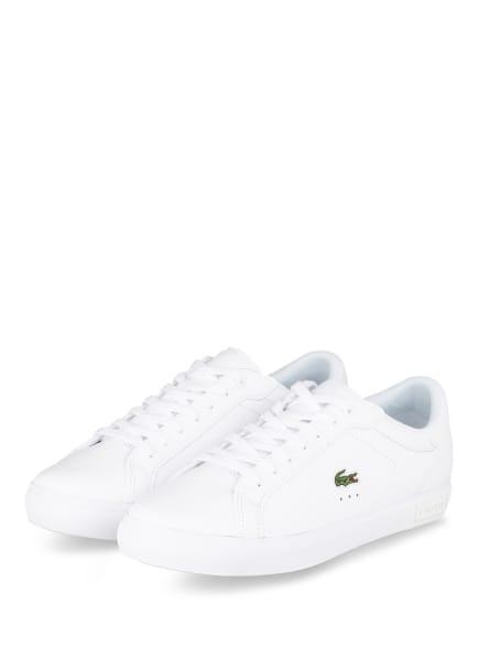 LACOSTE Sneaker POWERCOURT, Farbe: WEISS (Bild 1)