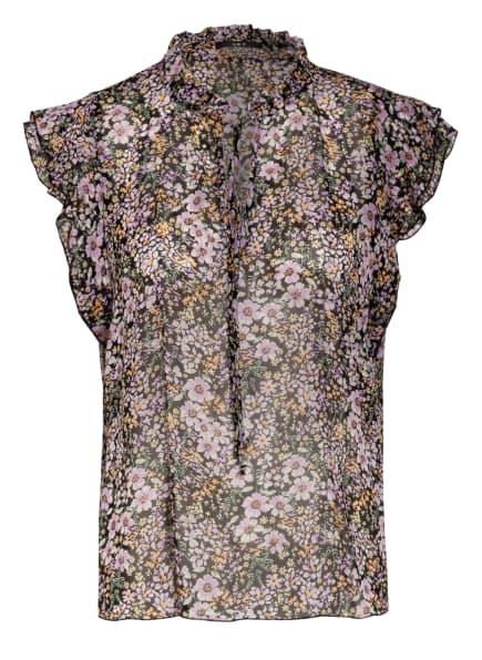 SET Blusenshirt, Farbe: SCHWARZ/ HELLLILA/ HELLORANGE (Bild 1)