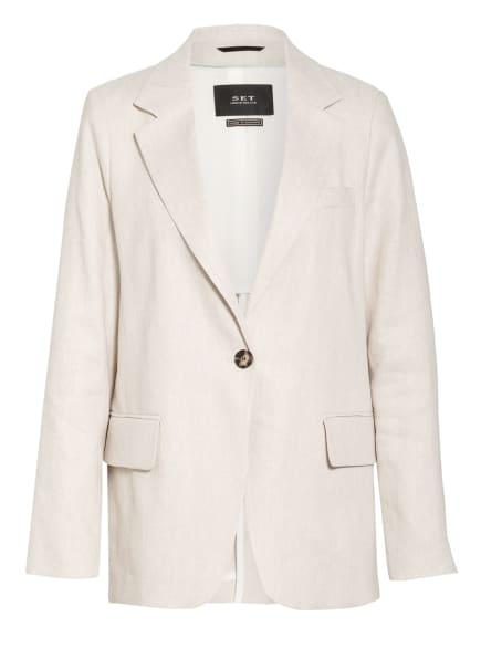 SET Blazer mit Leinen, Farbe: CREME (Bild 1)