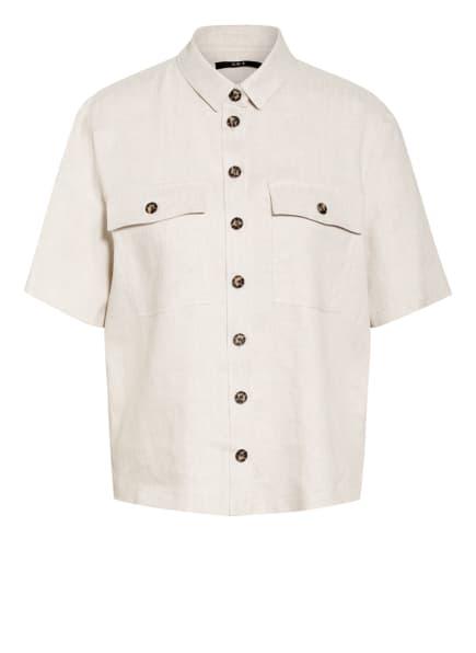 SET  Hemdbluse mit Leinen, Farbe: CREME (Bild 1)