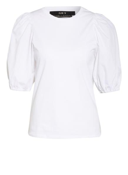 SET Blusenshirt im Materialmix, Farbe: WEISS (Bild 1)