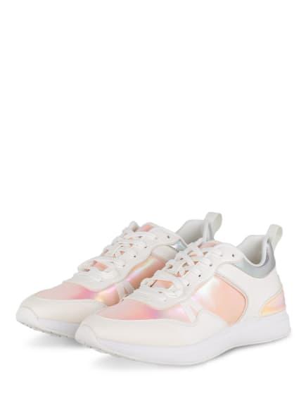 ALDO Plateau-Sneaker BOADDA, Farbe: WEISS/ ROSA/ HELLORANGE (Bild 1)