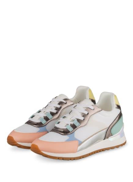 ALDO Plateau-Sneaker ESCLUB, Farbe: WEISS/ ROSA/ SILBER (Bild 1)