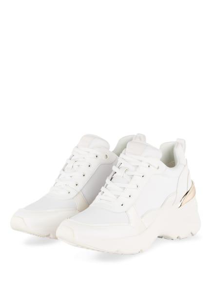 ALDO Plateau-Sneaker DARDOVIEL, Farbe: WEISS/ GOLD (Bild 1)