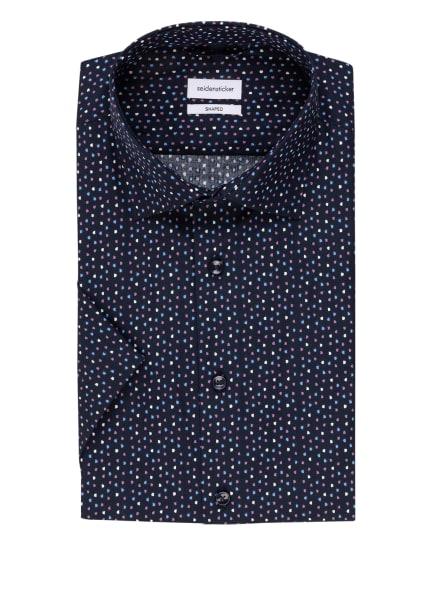 seidensticker Kurzarm-Hemd Shaped Fit, Farbe: DUNKELBLAU/ LILA/ WEISS (Bild 1)