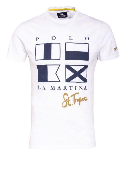 LA MARTINA T-Shirt, Farbe: WEISS/ DUNKELBLAU (Bild 1)