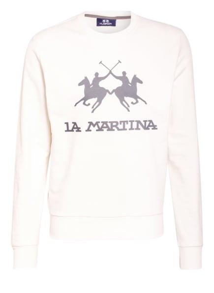 LA MARTINA Sweatshirt, Farbe: WEISS/ DUNKELGRAU (Bild 1)