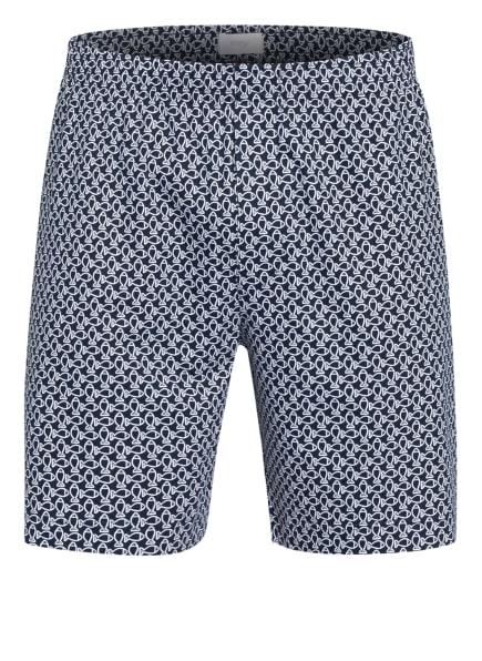 mey Lounge-Shorts Serie CLUB , Farbe: WEISS/ DUNKELBLAU (Bild 1)