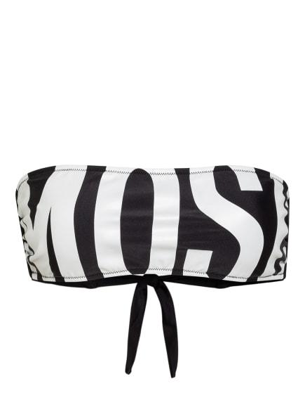 MOSCHINO Bandeau-Bikini-Top , Farbe: SCHWARZ/ WEISS (Bild 1)