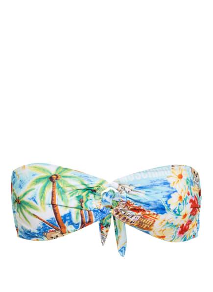 MOSCHINO Bandeau-Bikini-Top , Farbe: TÜRKIS/ GELB/ GRÜN (Bild 1)