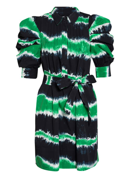 MUNTHE Kleid TUBA, Farbe: DUNKELBLAU/ WEISS/ GRÜN (Bild 1)