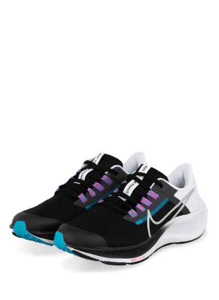 Nike Laufschuhe AIR ZOOM PEGASUS 38, Farbe: SCHWARZ/ NEONBLAU (Bild 1)