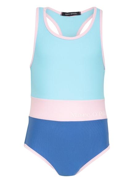 Marc O'Polo Badeanzug mit UV-Schutz, Farbe: NEONBLAU/ ROSA/ BLAU (Bild 1)