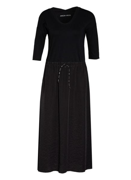 MARC CAIN Kleid im Materialmix, Farbe: SCHWARZ (Bild 1)