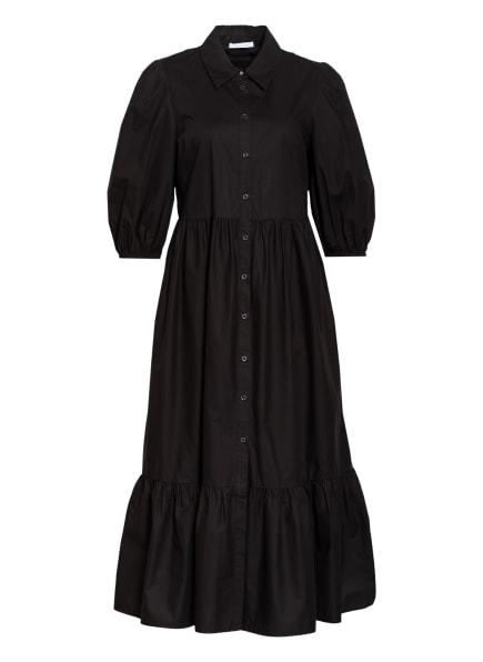 PATRIZIA PEPE Hemdblusenkleid mit 3/4-Arm, Farbe: SCHWARZ (Bild 1)
