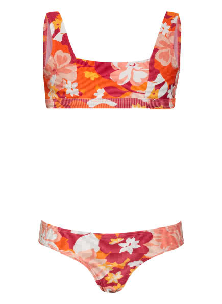 SEAFOLLY Bustier-Bikini VINTAGE VACAY, Farbe: ORANGE/ DUNKELROT/ WEISS (Bild 1)