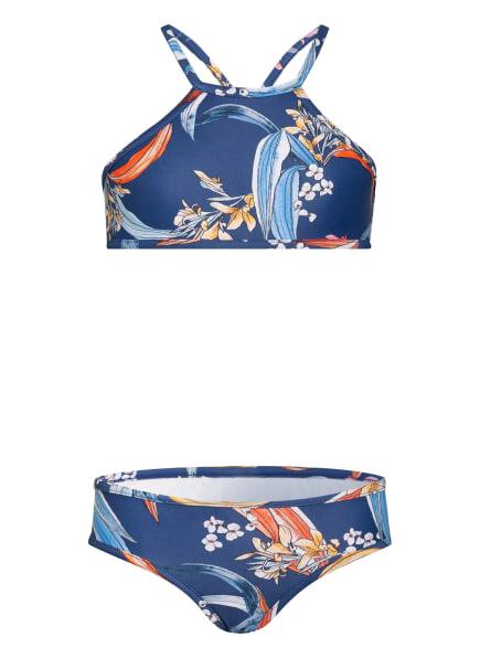 SEAFOLLY High-Neck-Bikini SALTY SUNSET, Farbe: BLAU/ ROT/ DUNKELGELB (Bild 1)