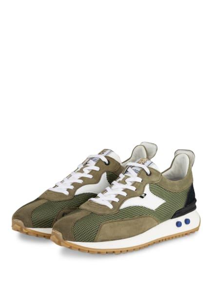 Floris van Bommel Sneaker, Farbe: OLIV/ WEISS/ SCHWARZ (Bild 1)