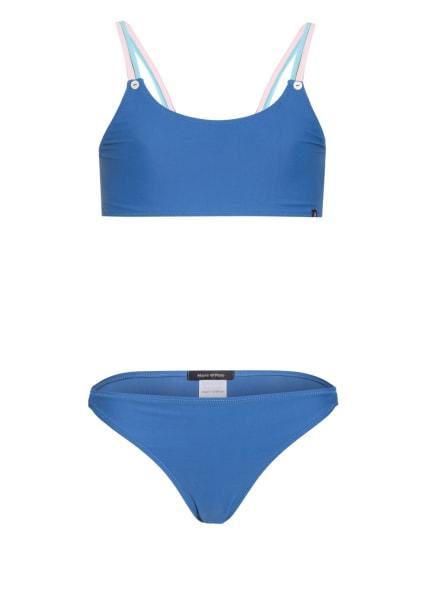 Marc O'Polo Bustier-Bikini mit UV-Schutz, Farbe: BLAU (Bild 1)