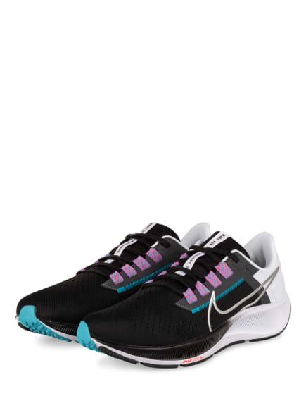 Nike Laufschuhe AIR ZOOM PEGASUS 38, Farbe: WEISS/ SCHWARZ/ SILBER (Bild 1)