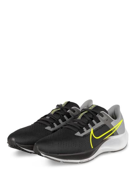 Nike Laufschuhe AIR ZOOM PEGASUS 38, Farbe: SCHWARZ/ GRAU/ HELLGRAU (Bild 1)