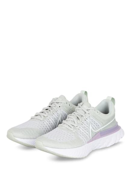 Nike Laufschuhe REACT INFINITY RUN FLYKNIT, Farbe: HELLGRÜN/ HELLLILA (Bild 1)