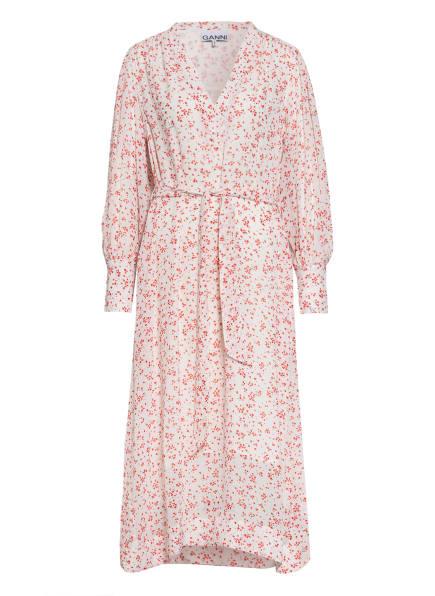 GANNI Kleid, Farbe: WEISS/ ROT (Bild 1)