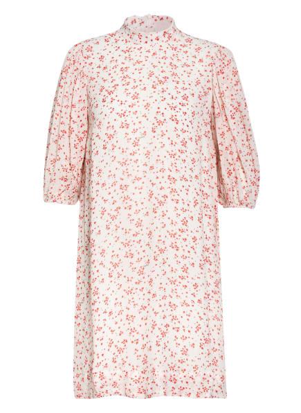 GANNI Kleid mit 3/4-Arm, Farbe: WEISS/ ROT (Bild 1)
