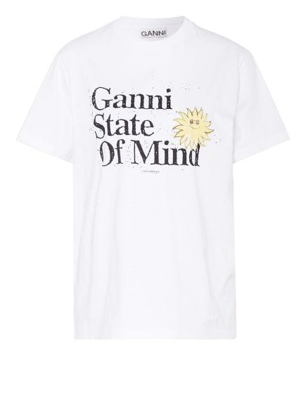 GANNI T-Shirt , Farbe: WEISS/ SCHWARZ/ GELB (Bild 1)