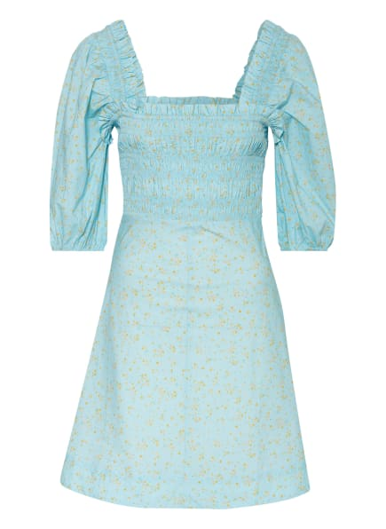 GANNI Kleid mit 3/4-Arm , Farbe: HELLBLAU/ DUNKELGELB/ GRÜN (Bild 1)