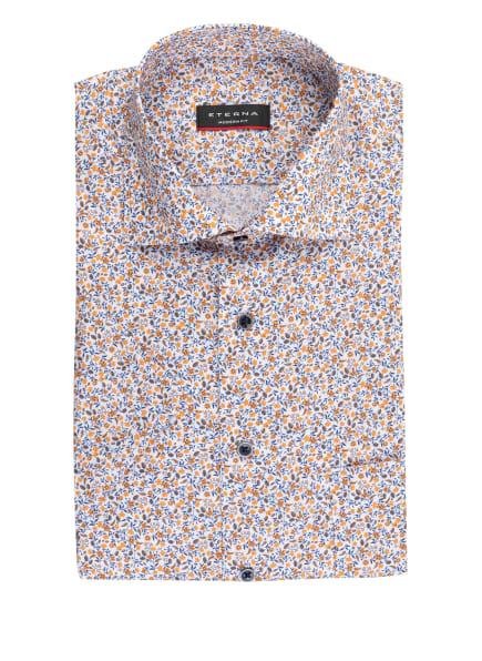 ETERNA Kurzarm-Hemd Modern Fit, Farbe: WEISS/ ORANGE/ BLAU (Bild 1)