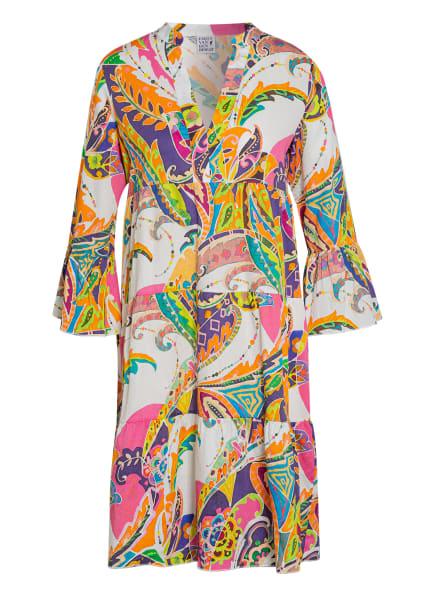 Emily Kleid mit 3/4-Arm , Farbe: ORANGE/ PINK/ HELLGRÜN (Bild 1)