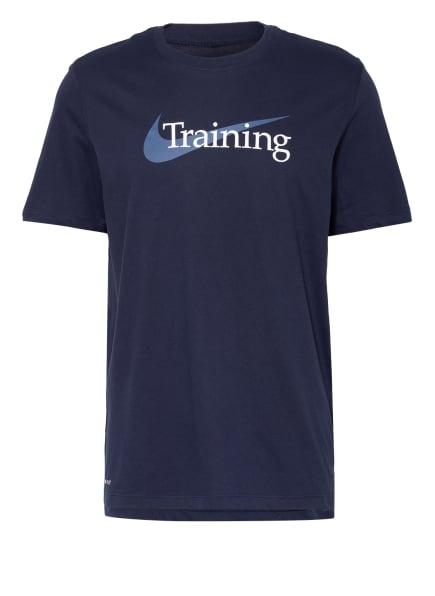 Nike T-Shirt DRI-FIT, Farbe: DUNKELBLAU (Bild 1)