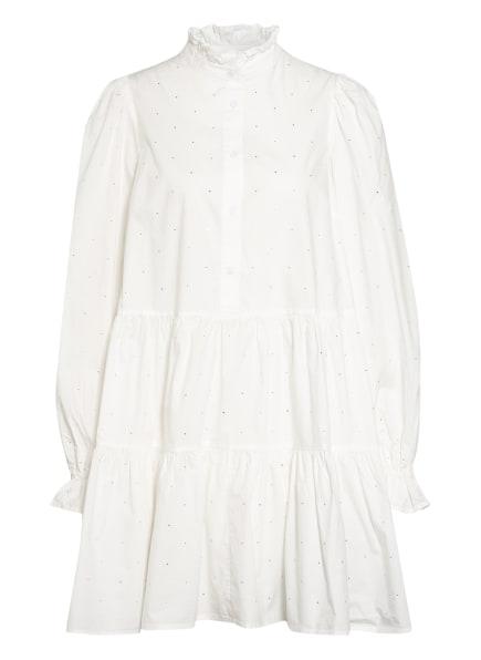 ESSENTIEL ANTWERP Kleid ZINGA mit Schmuckstein- und Rüschenbesatz, Farbe: WEISS (Bild 1)