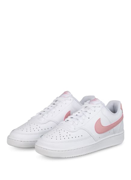Nike Sneaker COURT VISION LOW, Farbe: WEISS/ HELLROSA (Bild 1)
