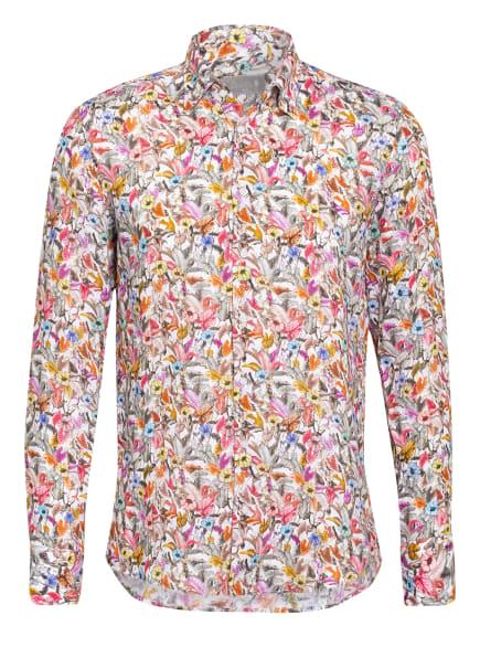 fakts Leinenhemd Slim Fit, Farbe: WEISS/ GRAU/ ORANGE (Bild 1)