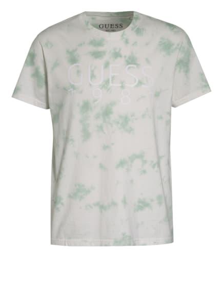 GUESS T-Shirt, Farbe: ECRU/ GRÜN/ WEISS (Bild 1)