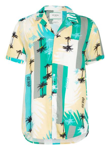 GUESS Resorthemd Regular Fit, Farbe: SCHWARZ/ GRÜN/ ECRU (Bild 1)