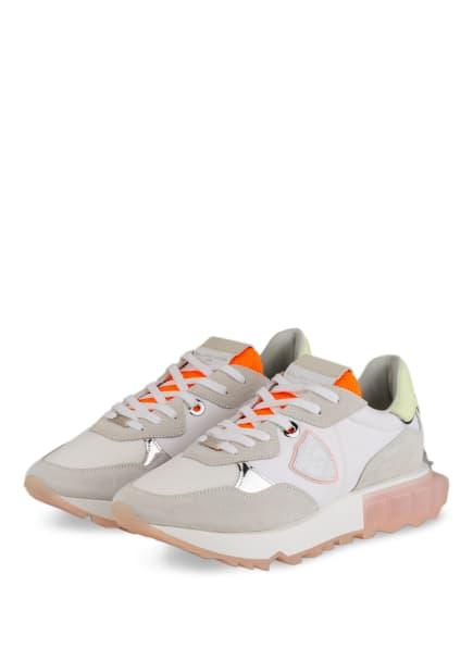 PHILIPPE MODEL Plateau-Sneaker LA RUE, Farbe: WEISS/ NEONORANGE/ HELLGRAU (Bild 1)