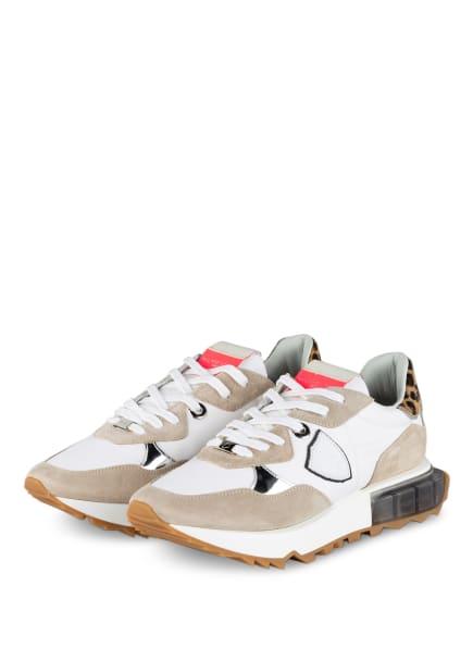 PHILIPPE MODEL Plateau-Sneaker LEO, Farbe: WEISS/ BEIGE (Bild 1)