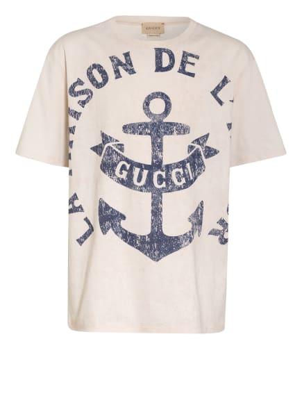 GUCCI T-Shirt, Farbe: CREME/ BLAU/ BEIGE (Bild 1)