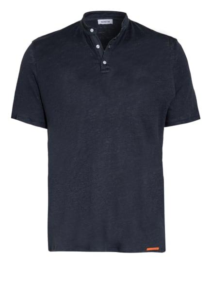 DISTRETTO 12 Henley-Shirt MARSEILLE aus Leinen, Farbe: DUNKELBLAU (Bild 1)